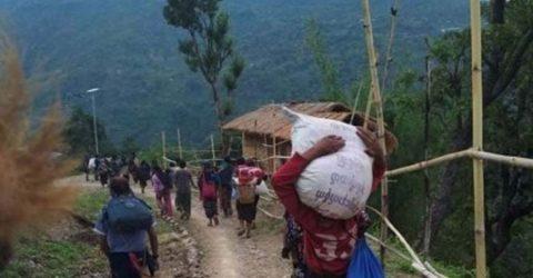 মিয়ানমারে সেনা-বিদ্রোহী সংঘর্ষ, ভারতে শরণার্থীর ঢল