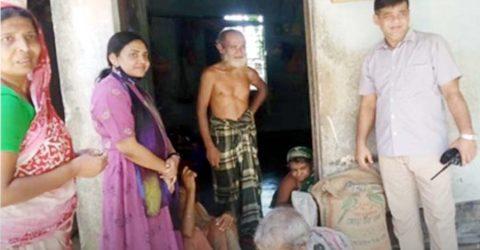 নালিতাবাড়ীতে সহকারী পুলিশ সুপারের খাদ্য সহায়তা পেলেন ৬ প্রতিবন্ধী